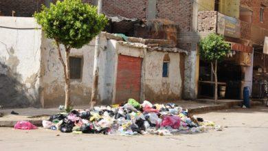 255121 3 أكوام من القمامة فى