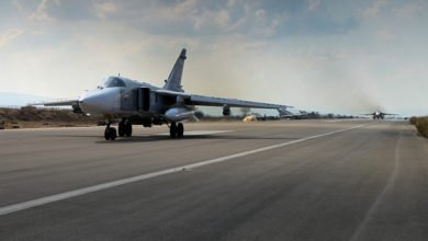 Russian military aircraft at Latakia Syria 1