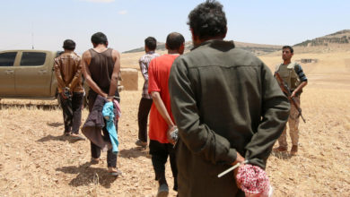 ISIS prisoners in the Syrian Democratic Forces