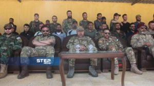 دفعة من مقاتلي اللواء 211 في الجيش الوطني 15