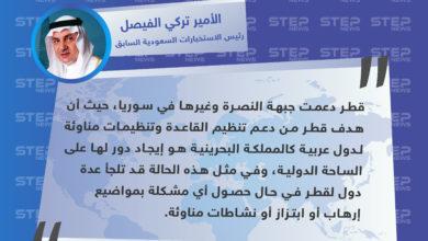 رئيس الاستخبارات السعودية السابق يكشف عن دعم قطر لتنظيم القاعدة في سوريا وغايتها من ذلك
