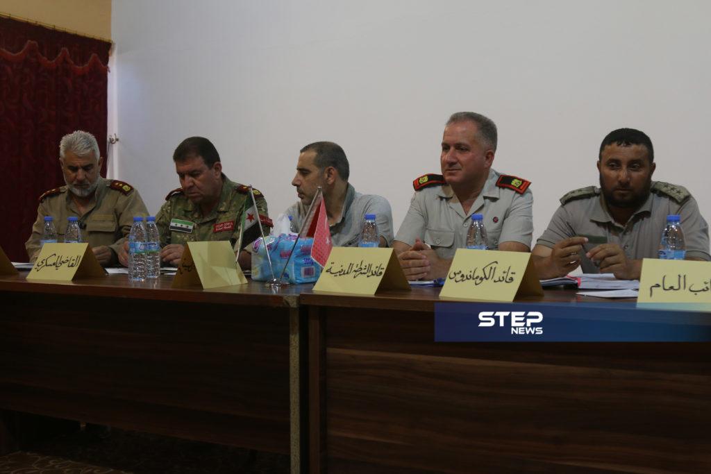 لوجهاء وفعاليات مع رؤساء مؤسسات في المدينة الباب بريف حلب 1
