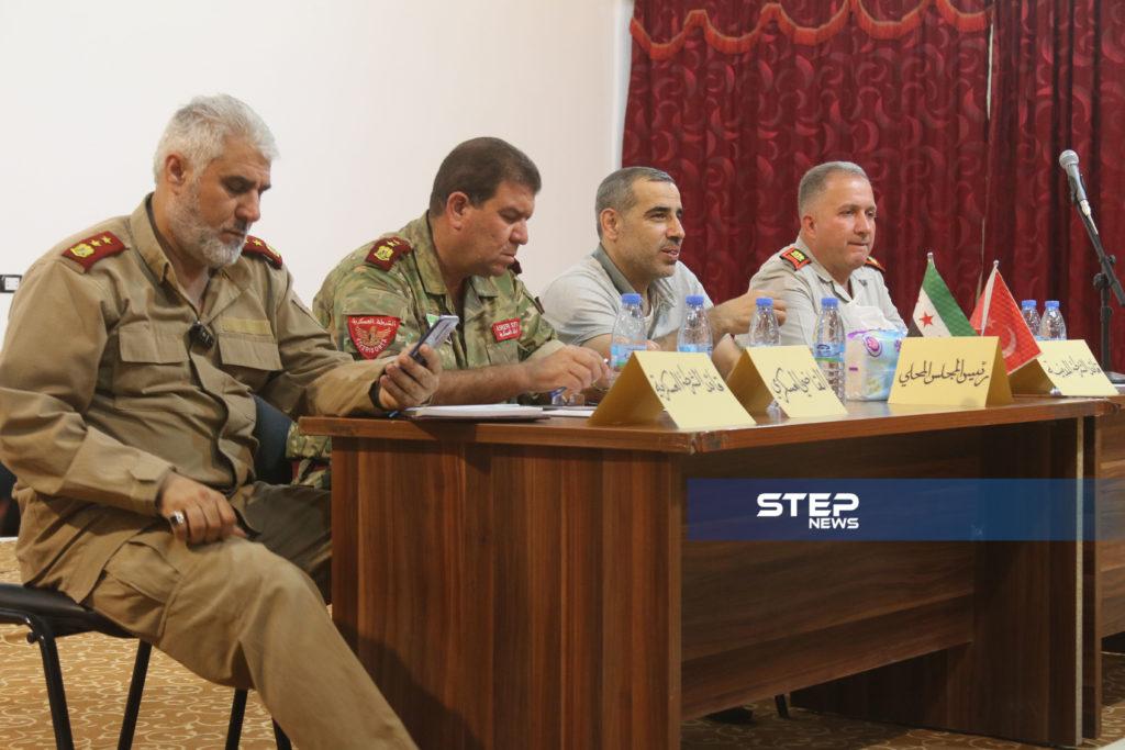 لوجهاء وفعاليات مع رؤساء مؤسسات في المدينة الباب بريف حلب 11