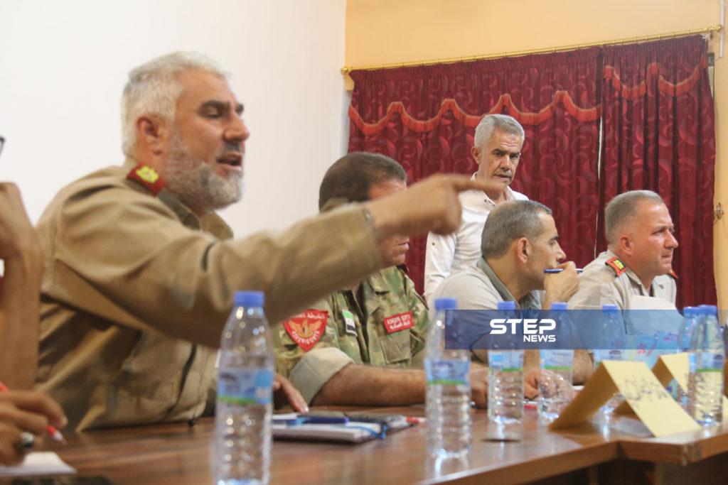 لوجهاء وفعاليات مع رؤساء مؤسسات في المدينة الباب بريف حلب 2