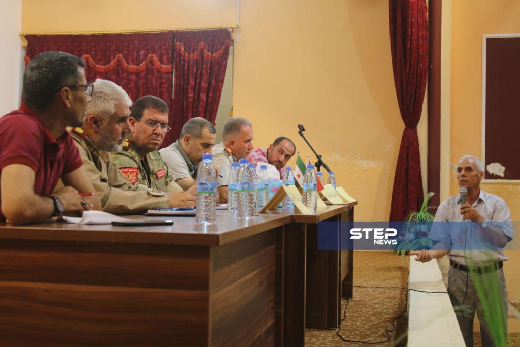 لوجهاء وفعاليات مع رؤساء مؤسسات في المدينة الباب بريف حلب 3