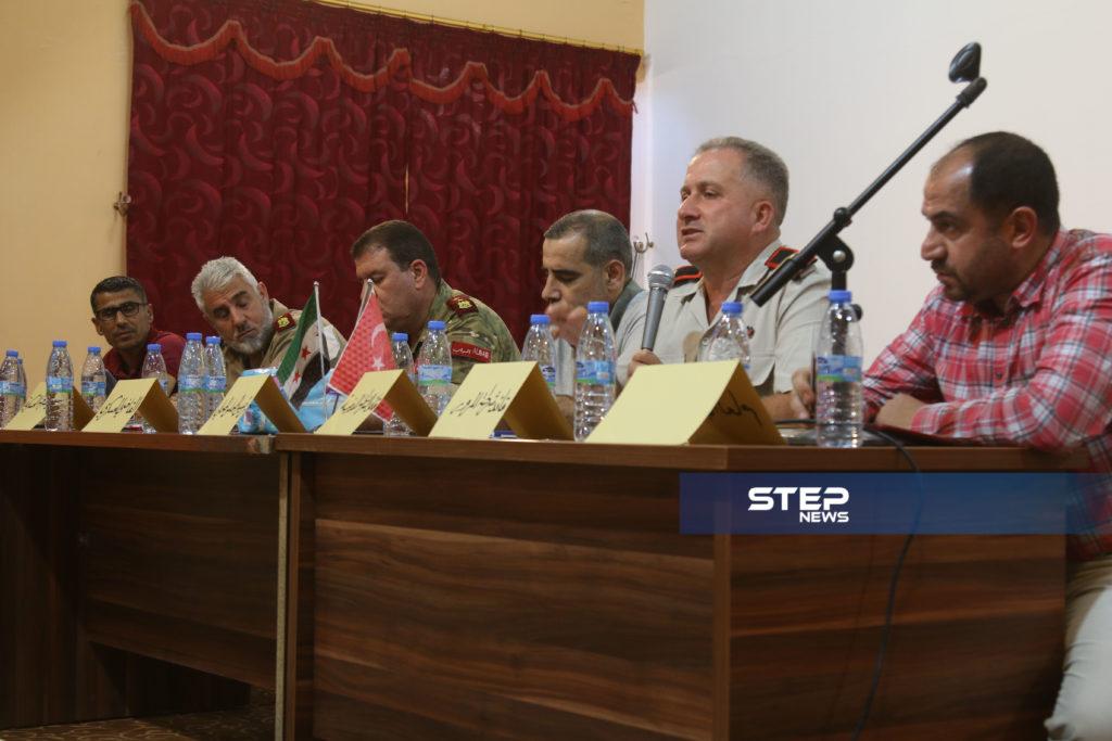 لوجهاء وفعاليات مع رؤساء مؤسسات في المدينة الباب بريف حلب 4