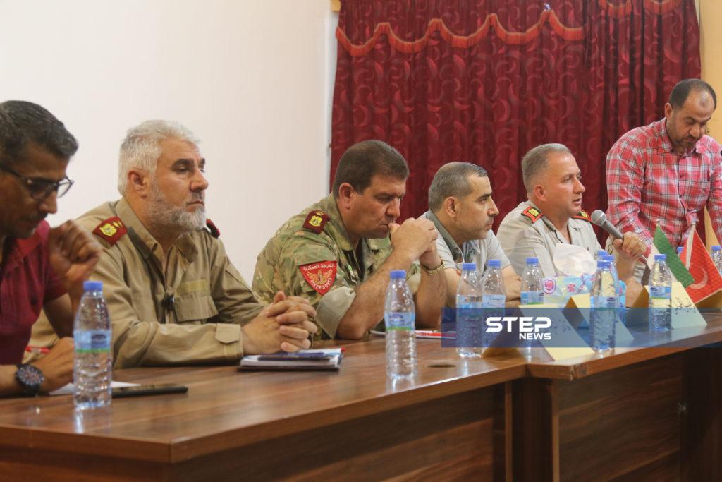 لوجهاء وفعاليات مع رؤساء مؤسسات في المدينة الباب بريف حلب 5