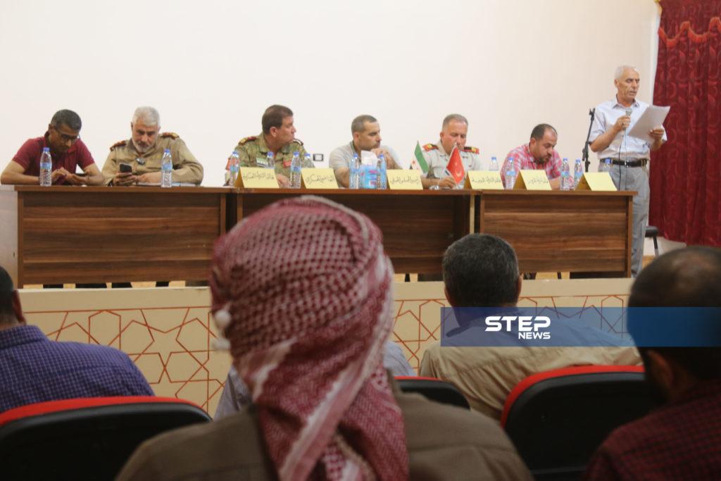 لوجهاء وفعاليات مع رؤساء مؤسسات في المدينة الباب بريف حلب 7