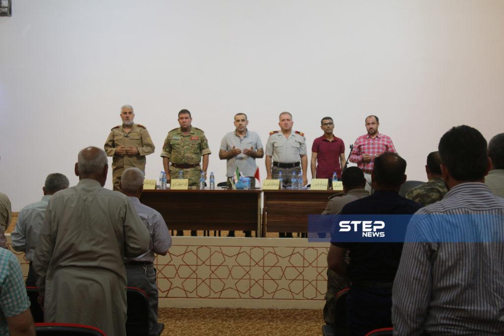 لوجهاء وفعاليات مع رؤساء مؤسسات في المدينة الباب بريف حلب 8