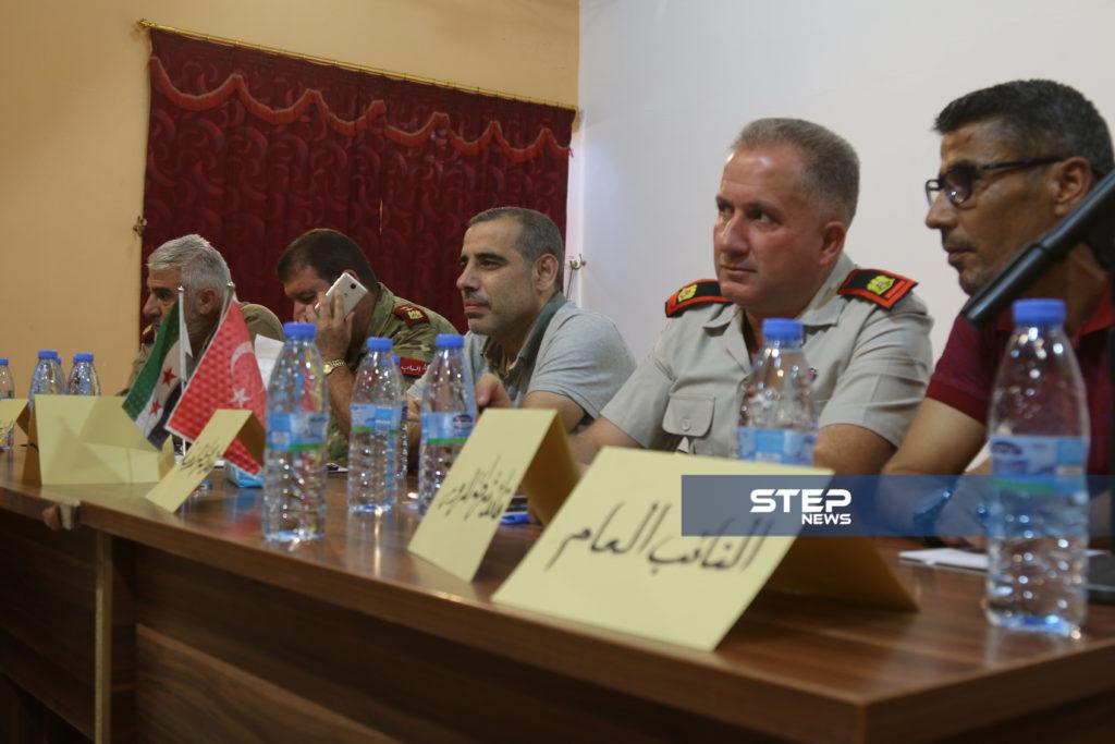 لوجهاء وفعاليات مع رؤساء مؤسسات في المدينة الباب بريف حلب 9