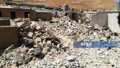 استمرار حملة الهدم المنازل الإسمنتية من قبل أهالي المخيمات في عرسال (صور)
