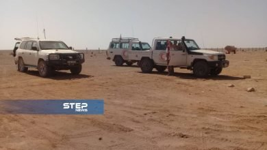بالصور جانب من لقاء فريق الأمم المتحدة مع أهالي مخيم الركبان