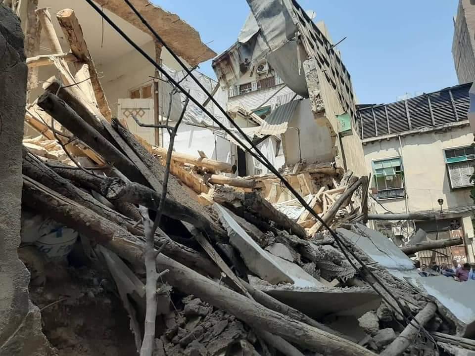 إنهيار منزل دمشقي في منطقة باب مصلى بالعاصمة دمشق