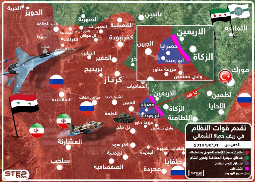 تحت وطأة الغارات الروسية.. قوات النظام تسيطر على قرية أبو رعيدة بريف حماة الشمالي