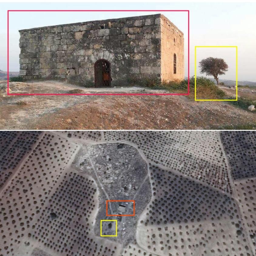لإنشاء قاعدة عسكرية وهميّة في عفرين القوّات التركية تدمر مزاراً دينياً أثرياً
