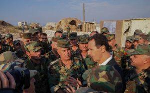 بشار الأسد يصل بزيارة خاطفة لجبهات ريف إدلب الجنوبي