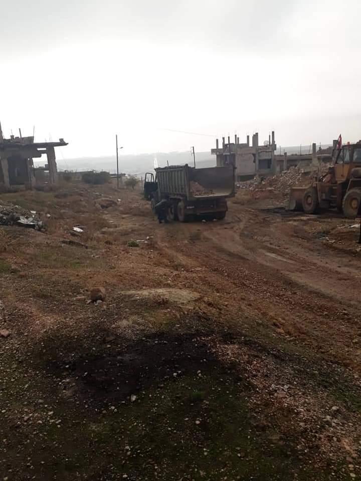 بعد حلفايا.. النظام السوري يروج لإعادة أهالي اللطامنة بريف حماة الشمالي لمدينتهم (صور)