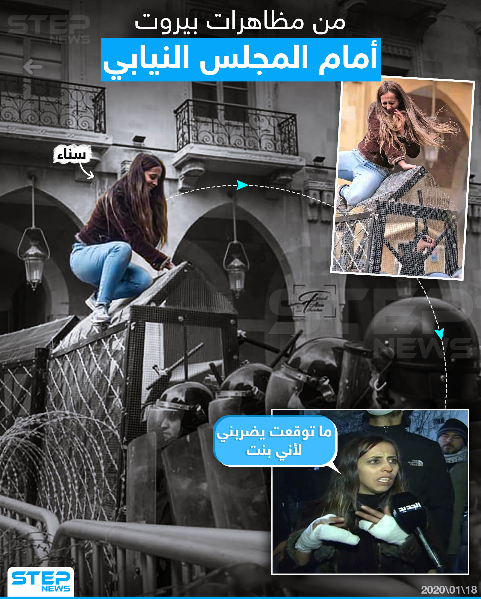 مشهد من مظاهرات لبنان أمام المجلس النيابي
