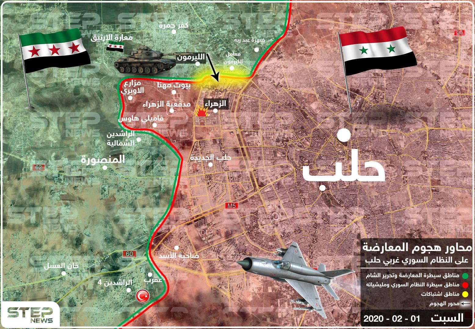 بالخريطة || فصائل المعارضة تشن معركة جديدة بمدينة حلب وبدايتها مفخختان والتفاصيل