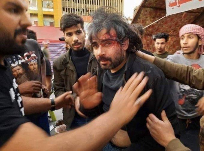 الحراك في بغداد يعود للمربع الأول.. وعشرات الجرحى من المتظاهرين على يد الميليشيات