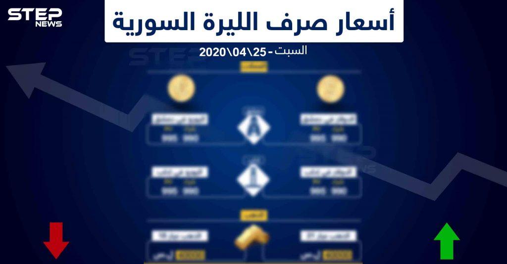 أسعار الذهب والعملات في سوريا اليوم 25-4-2020 وكالة ستيب الإخبارية
