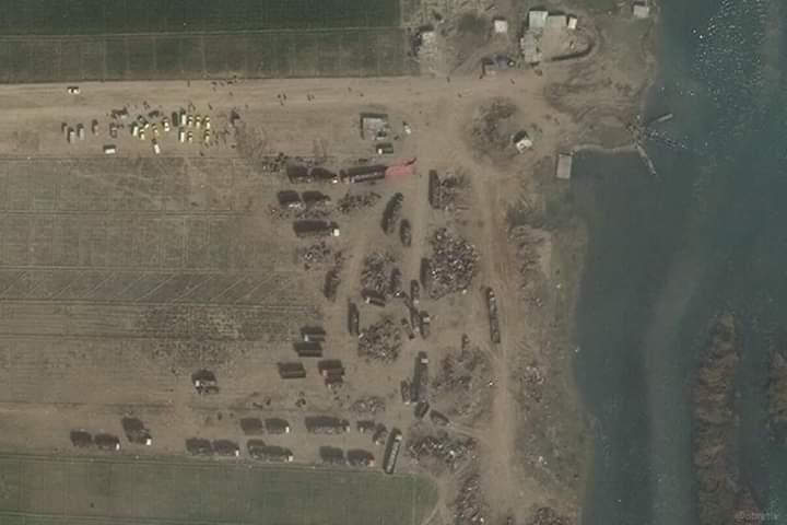 صور أقمار صناعية تكشف تهريب النفط إلى النظام السوري (صور)