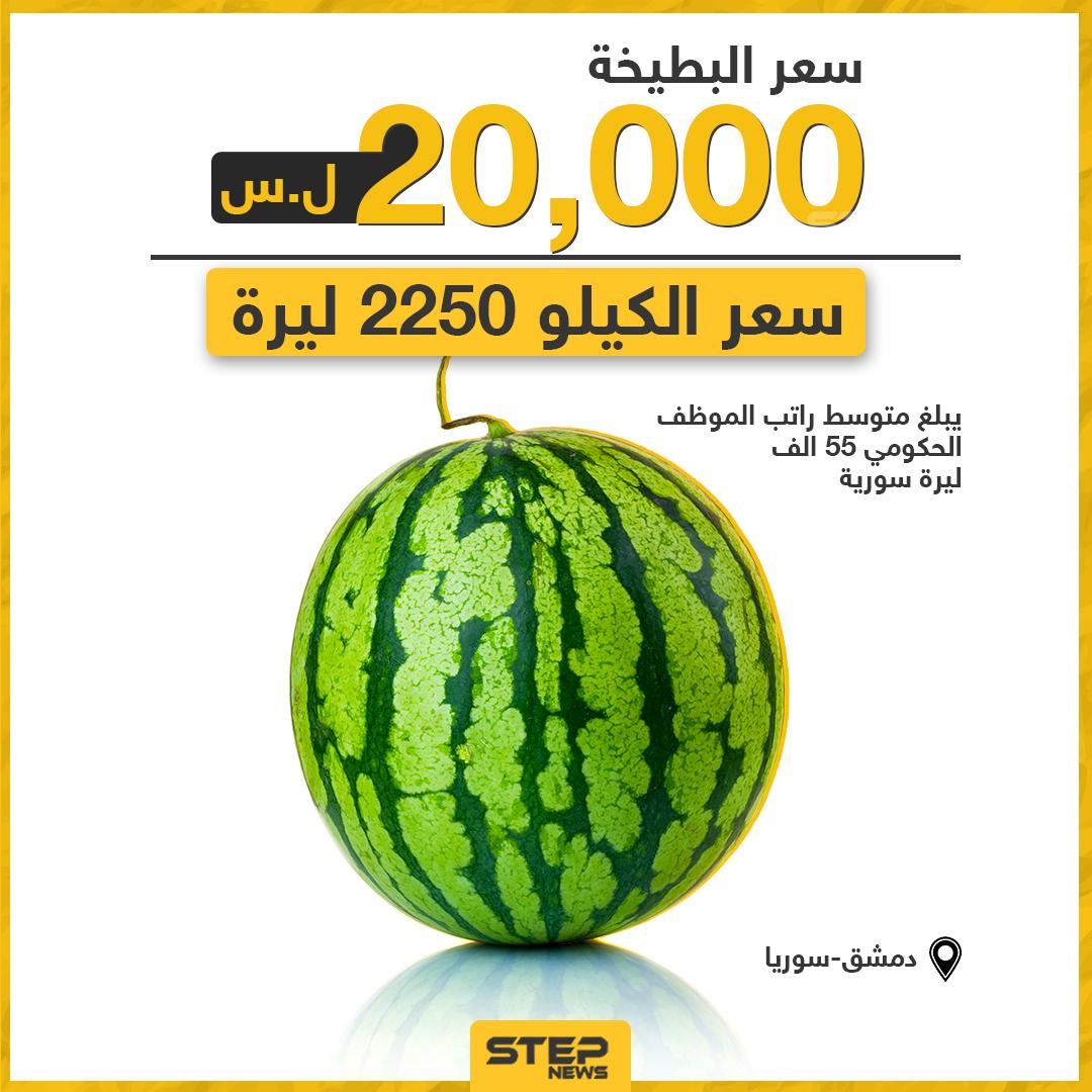 سعر البطيخة في دمشق.. ما سعرها في مدينتكم؟