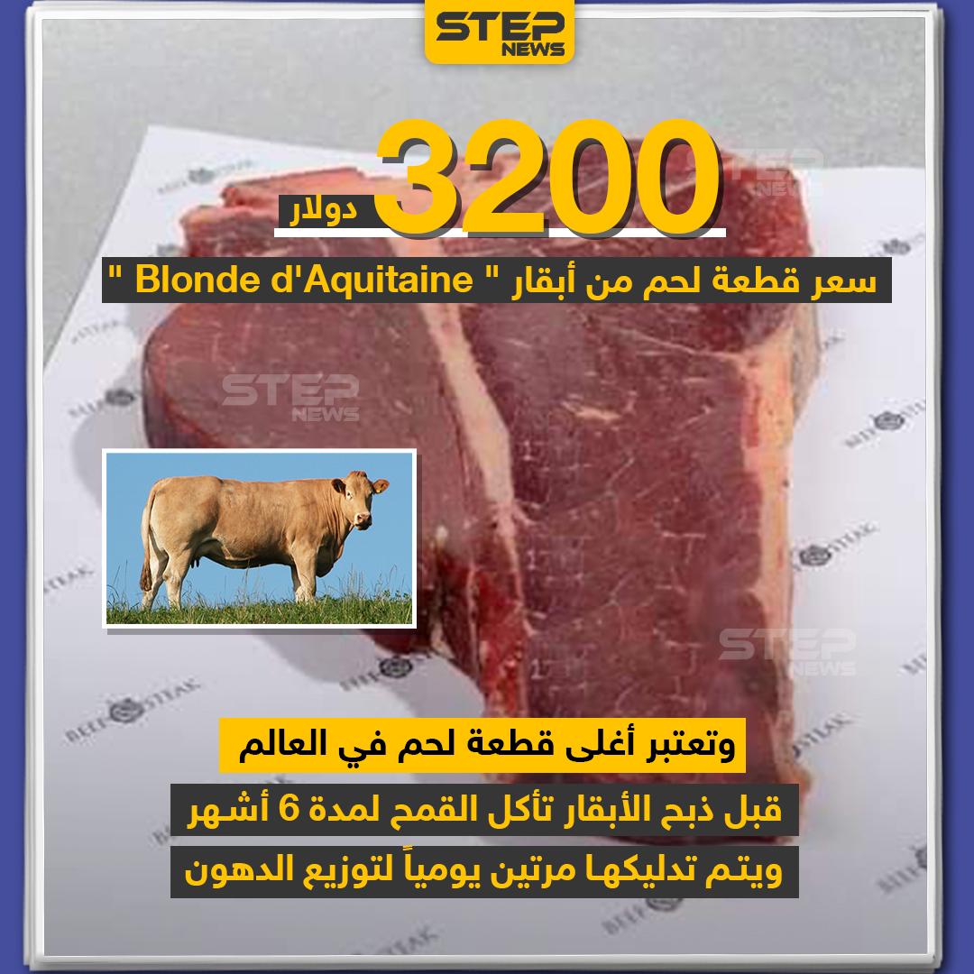 أغلى قطعة لحم في العالم بسعر 3200 دولار