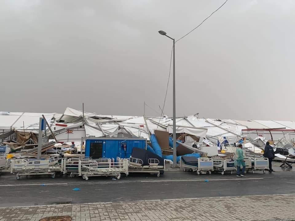 انهيار مستشفى مصابي كورونا في الدوحة