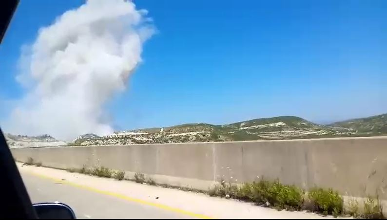 بالفيديو|| انفجار يستهدف رتلاً تركياً في إدلب وطائرات مروحية تنقل المصابين