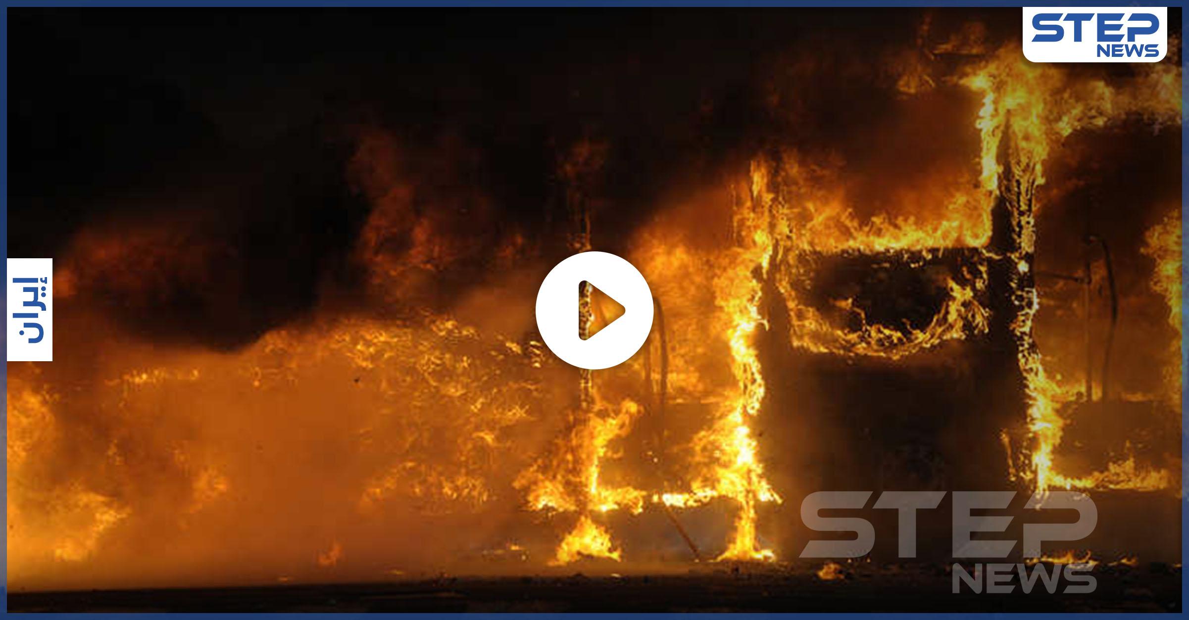 انفجار وحريق ضخم وسط العاصمة الإيرانية طهران