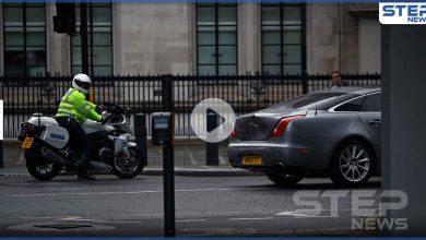 بالفيديو || حادث سير لرئيس الوزراء البريطاني بعد خروجه من البرلمان