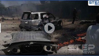 15 إصابة بين قتيل وجريح بانفجار مفخخة وسط سوق مكتظ بتل حلف وأخرى بعربة تركية (فيديو)