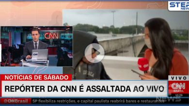 بالفيديو   لص يسطو على مراسلة CNN خلال بث مباشر