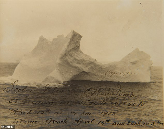 """تكشف للمرة الأولى.. صور الجبل الجليدي الذي أغرق سفينة """"تيتانيك"""" قبل 108 أعوام (صور)"""