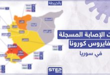 الاصابة المسجلة بكورونا في سوريا