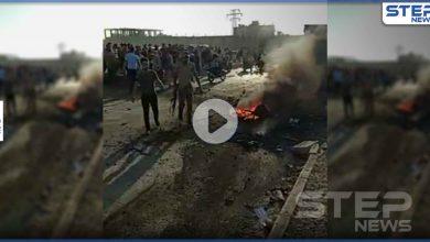 بالفيديو|| جرحى ومصابين بتفجير مفخخة بسوق المحروقات وسط مدينة الباب شرق حلب