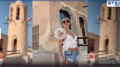بالفيديو|| بلباس فاضح وحركات مثيرة.. امرأة أجنبية ترقص داخل مسجد بقطر والقطرين يلومون السلطات