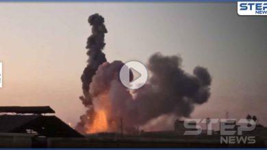 بالفيديو|| عقب ساعات من بيان داعش.. انفجارات ضخمة بمستودع أسلحة في المشيرفة بـ الحسكة