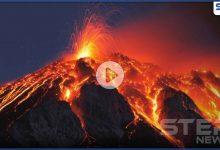 حمم بركانية وغازات تخرج من جوف الأرض في النجف العراقية تثير ذعر الأهالي (فيديو)