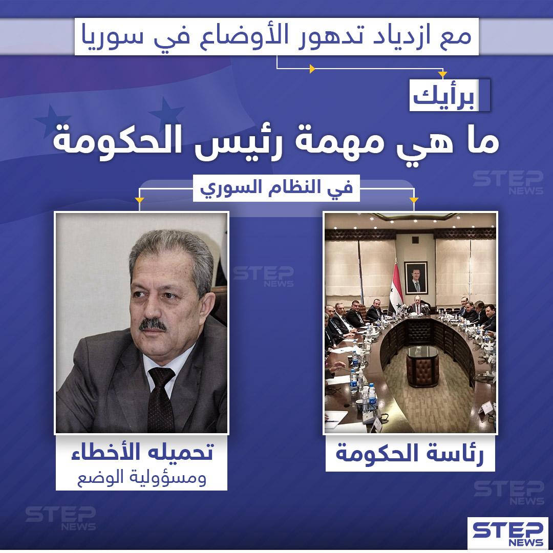 بعد تعيينه رئيسا لحكومة النظام السوري خلفاً لخميس.. ما هي مهمة حسين عرنوس برأيك