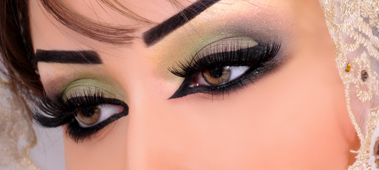 مكياج عيون خليجي