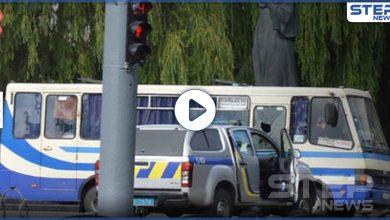 بالفيديو|| رجل يخطف حافلة ركاب في أوكرانيا ويطالب بشروط غريبة من قادة البلاد