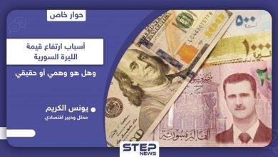 """خبير اقتصادي يكشف لـ """"ستيب"""" أسباب تحسّن سعر الليرة السورية وهل هو حقيقي وإلى متى سيدوم"""
