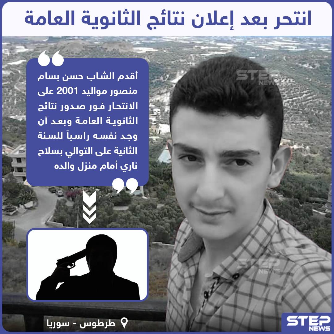 انتحار طالب ثانوية بعد إعلان نتائج الثانوية العامة في مدينة طرطوس السورية