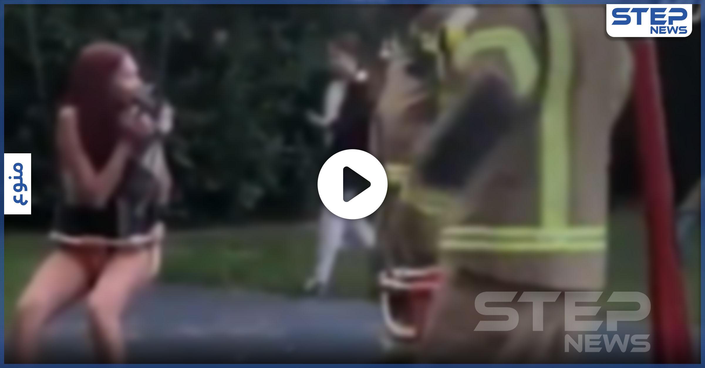 فتاة تيك توك تحرك قسم الإطفاء بعدما علقت بأرجوحة
