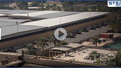 بالفيديو|| هجوم صاروخي على القاعدة الأمريكية في مطار بغداد ومنظومات الباترويت تتصدى