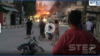 بالفيديو || قتلى من المدنيين وفصائل المعارضة بانفجار مفخخة وسط تل أبيض شمال الرقة