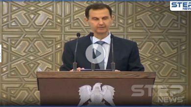 بالفيديو|| شاهد الوعكة الصحية التي تعرض لها بشار الأسد أثناء خطابه وكيف برر ذلك
