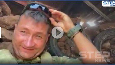 بالفيديو|| لحظة استهداف دشمة الإعلامي الروسي أوليغ بلوخين الذي يرافق قوات النظام السوري في إدلب